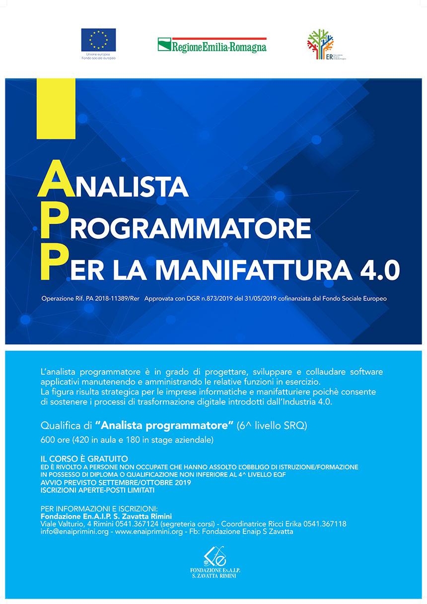 corso analista programmatore Enaip Rimini