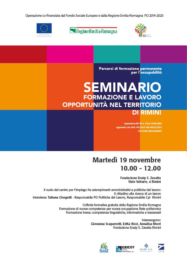 seminario Formazione e lavoro - rimini